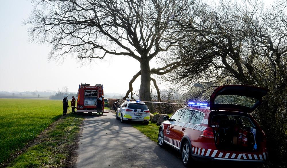 Enkvinde blev alvorligt kvæstet da en gren knækkede af et trælørdag eftermiddag. Foto: Jens Nielsen