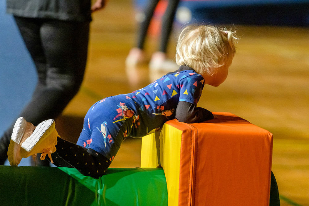RGI afholdte i dag gymnastikafslutning i Røsnæshallen. Foto: Ole Agerbæk.