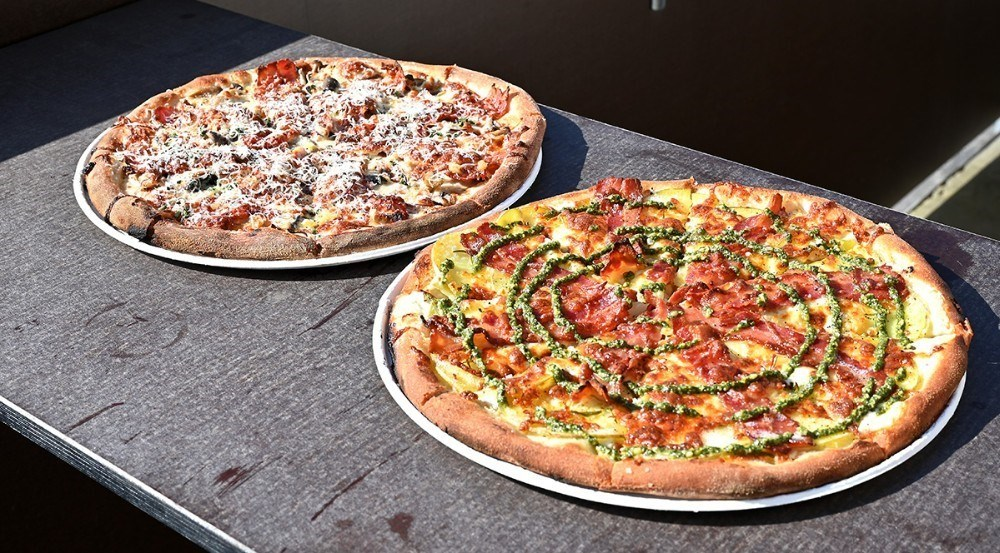 Lækre pizzaer på Asgers Bar. Foto: Jens Nielsen