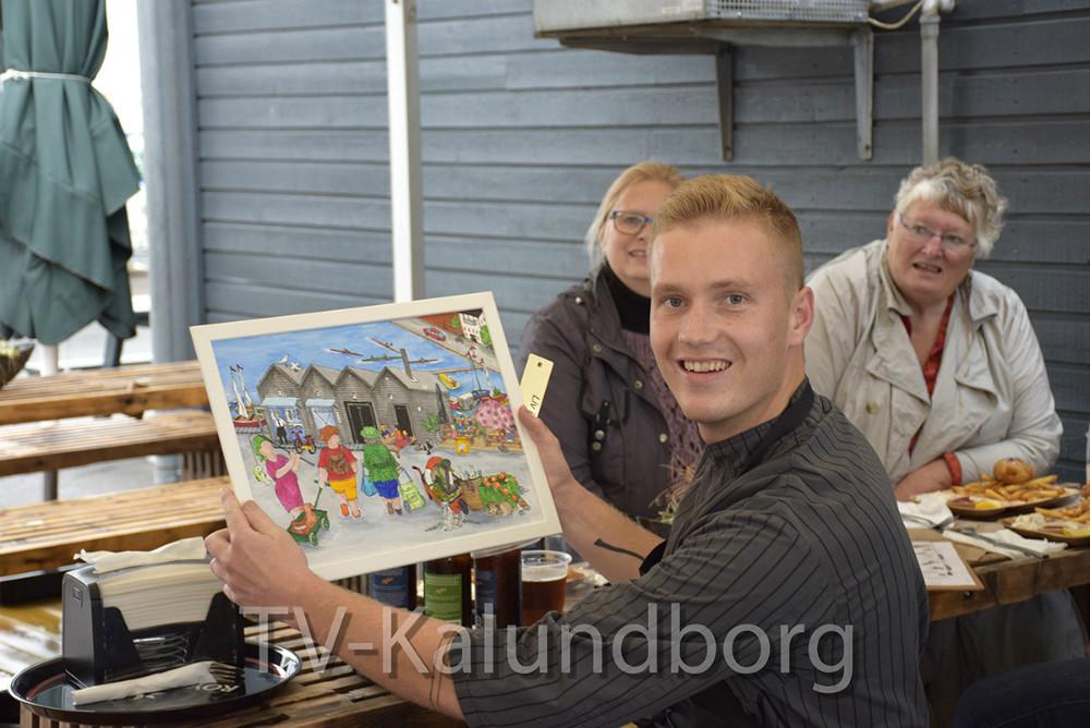 Asger Øgelund, der ejer Asgers Fisk, modtog i dag Radikale Venstres ´Liv I Kalundborg´ pris. Foto: Gitte Korsgaard.