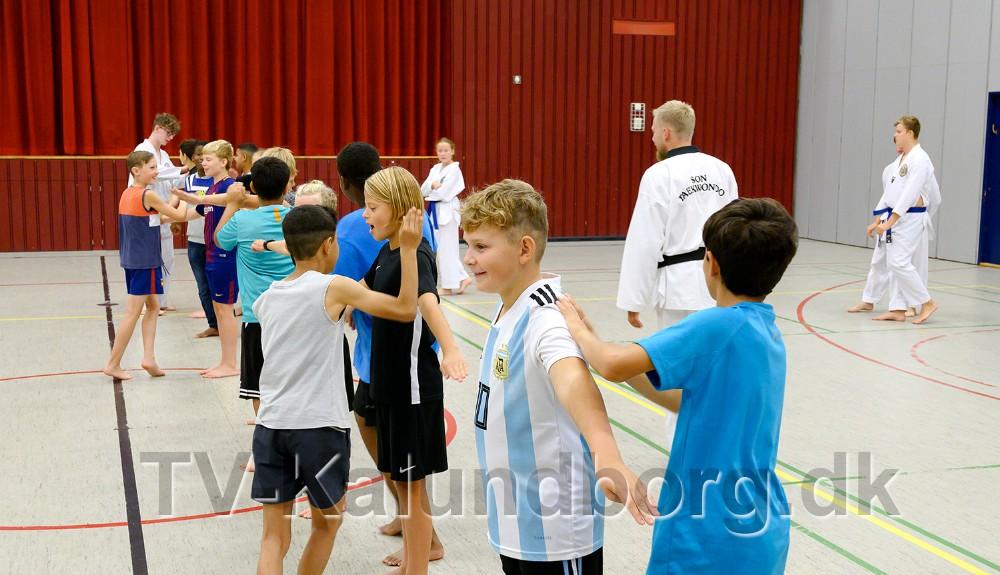 Taekwondo i Kalundborghallen. Foto: Jens Nielsen