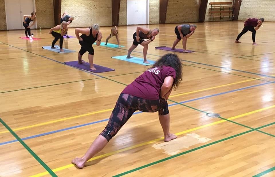 Yoga med Trine Kronborg. Privatfoto
