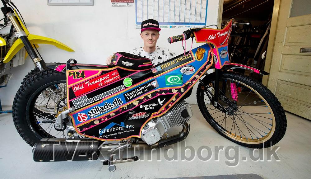 Patrick Hansen, talentfuld speedwaykører fra Jerslev. Foto: Jens Nielsen