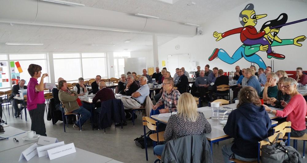 Godt 60 mødte op til konferencen om små byers udvikling. Privatfoto