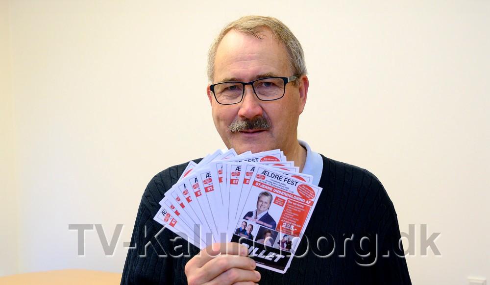 Niels-Erik Sørensen, formand for H.F. Vestsjællands Venner, er klar til at sætte billetsalget i gang. Foto: Jens Nielsen