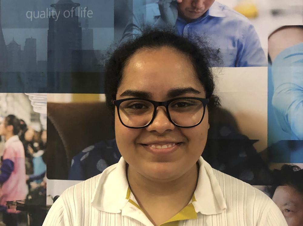 Akshita Tripathi fra Indien er studerende på 1. semester