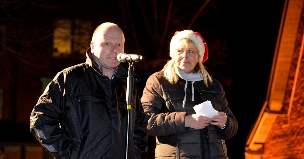 Formand for handels- og erhvervsforeningen, Steffen Olsen, bød velkommen. Foto: Jens Nielsen