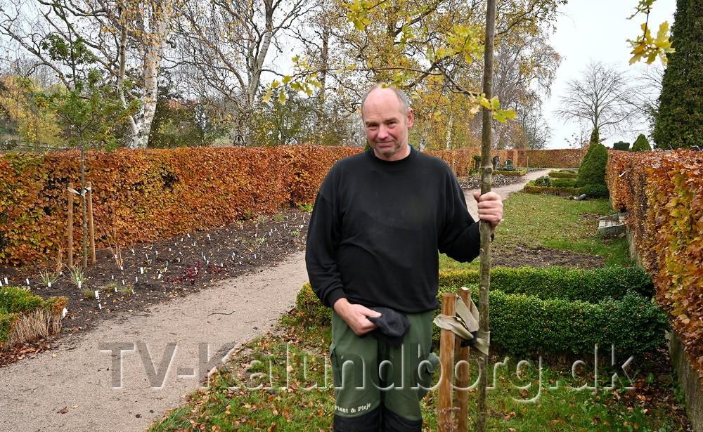 Leif Juhl, indehaver af L.J. Plant og Pleje i Gørlev, står for etableringen af den nye Skovkirkegård. Foto: Jens Nielsen