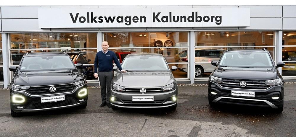 SalgschefBrian Petersen, Volkswagen Kalundborg, klar med masser af gode tilbud til købers marked de to næste weekender. Foto: Jens Nielsen
