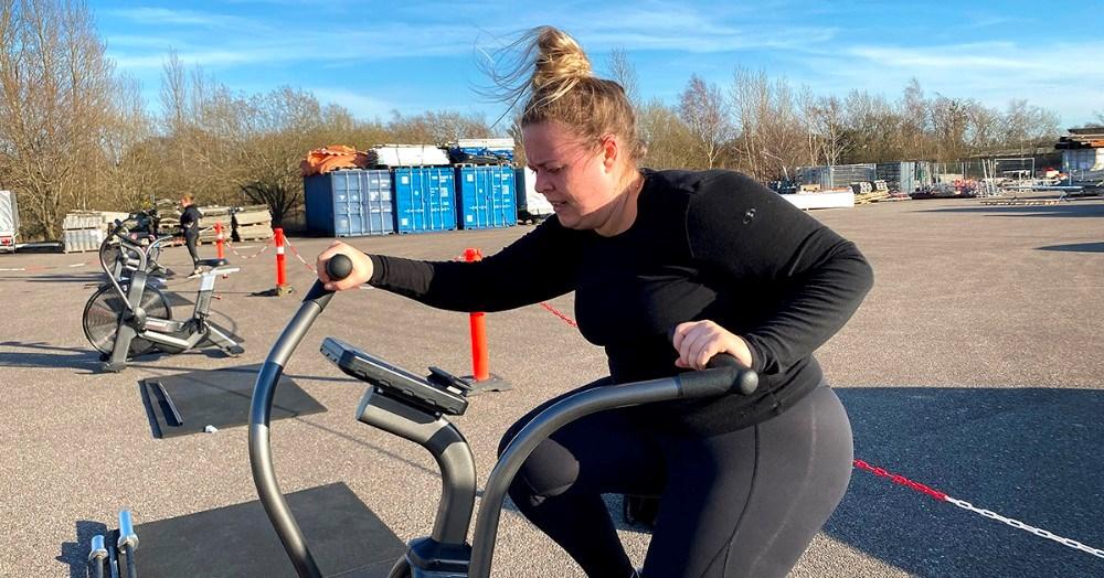 Jacqueline Hersing er en af deltagerne på begynderholdet. Foto: Jens Nielsen