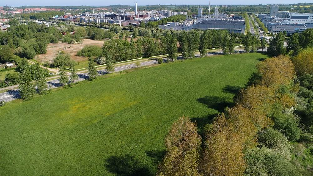 En invester ønsker at opføre 8000 kvm. erhvervsbyggeri på grunden på hjønet af Slagelsevej og Hovvejen. Foto: Jens Nielsen