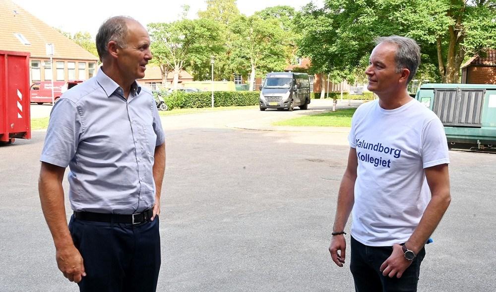 Borgmester Martin Damm kiggede også forbi, her sammen med ejer af Kalundborgkollegiet, Brian Vidtøft Nielsen. Foto: Jens Nielsen
