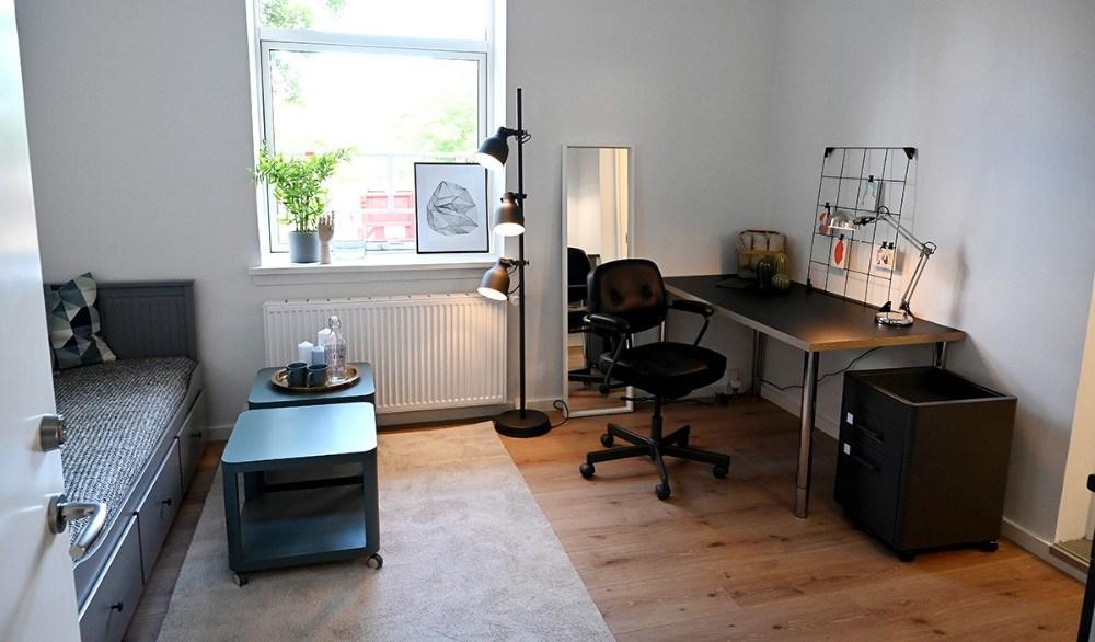 Det møbleret værelse. Foto: Jens Nielsen