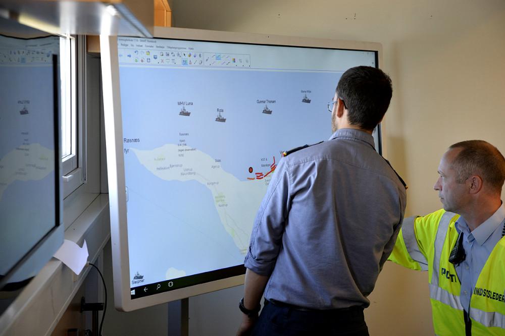 Hele øvelsen bliver styresfraden mobile komandocentral fra Beredskabsstyrelsen. Foto: Jens Nielsen