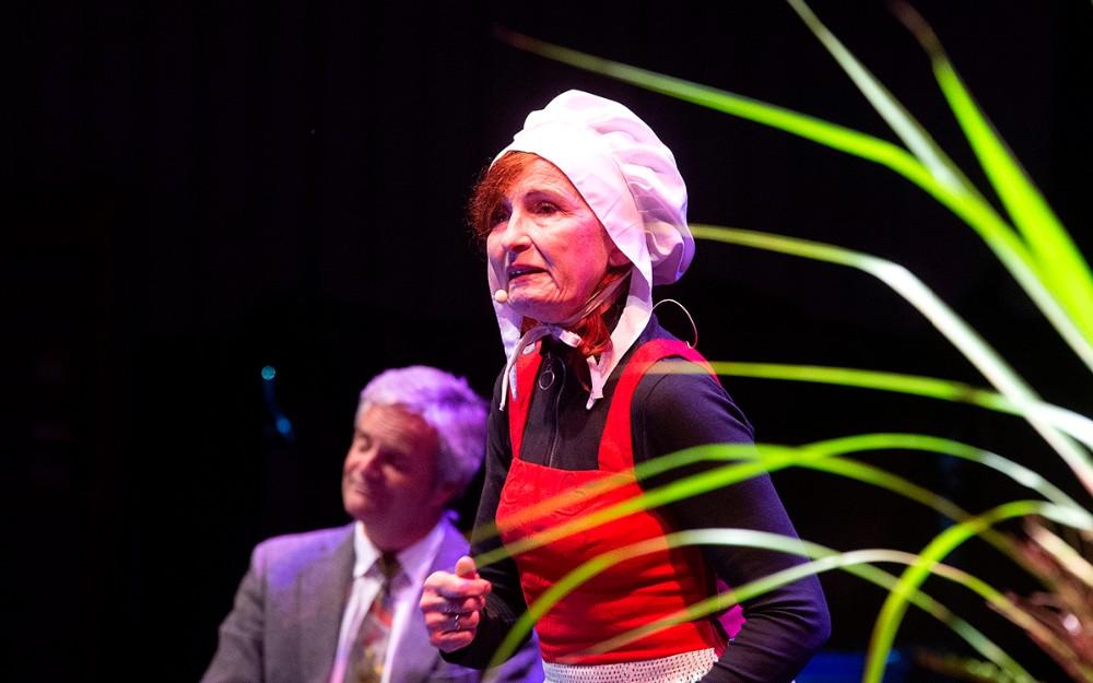 Den folkekære skuespiller Bodil Jørgensen stod for underholdningen. Foto: Jens Nielsen