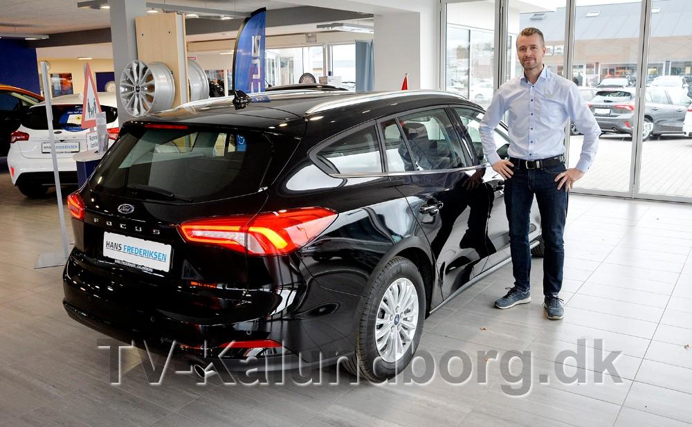 Mathias Lykke, forretningschef hos Hans Frederiksen A/S er klar til at vise den nye Ford Fokus stationcar frem i den kommende weekend. Foto: Jens Nielsen
