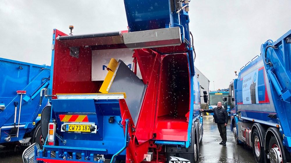 De nye skraldebiler er indrettet med to kamre. Foto: Jens Nielsen